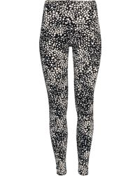 H&M Black Jersey Leggings - Lyst