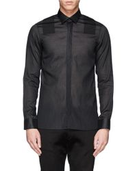 Lanvin Pinwale Shoulder Panel Shirt - Lyst