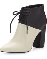 Seychelles - Nonchalant Colorblock Leather Ankle Bootie - Lyst
