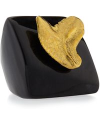 Ashley Pittman - Dark Horn Shark Tooth Ring - Lyst