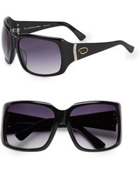 Oscar de la Renta Oversized Rectangular Jeweled Sunglasses - Lyst