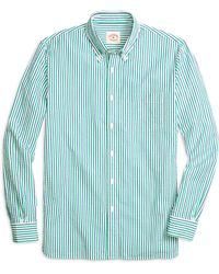 Brooks Brothers Seersucker Double Stripe Sport Shirt - Lyst