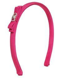 Ferragamo Pink Grosgrain Headband - Lyst
