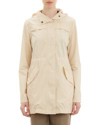 Barneys New York Twill Hooded Anorak - Lyst