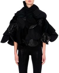 Junya Watanabe Patchwork Sequin Cape - Lyst