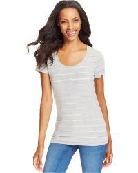 Calvin Klein Jeans Short-sleeve Striped Top - Lyst