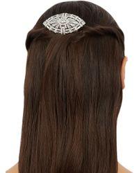 Ben-Amun - Swarovski Silver Tone Crystal Embellished Hair Clip - Lyst