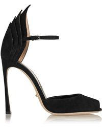 Sergio Rossi Folded Suede Pumps - Lyst