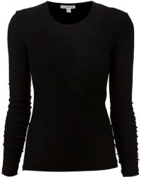 James Perse Black Basic T-shirt - Lyst