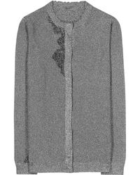 Bottega Veneta Knitted Metallic Cardigan - Lyst