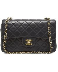 Chanel Preowned Small Vintage Double Flap Bag - Lyst