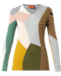 Missoni Colour-Block Cashmere Sweater - Lyst