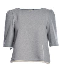 Kelly Shaw - Grey Organic Fleece Top With Back Opening Detail - Lyst