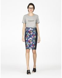 Cynthia Rowley Bonded Pencil Skirt blue - Lyst