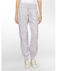 Calvin Klein White Label Performance Rib Knit Banded Pants - Lyst