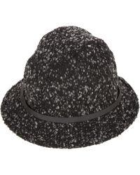 Genie - Black Tweed Ferris Bucket Hat - Lyst