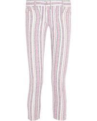 Etoile Isabel Marant Cooper Printed Lowrise Skinny Jeans - Lyst