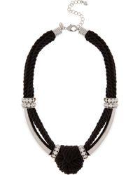 Coast Maris Knot Necklace black - Lyst