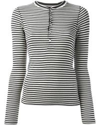 Ralph Lauren Blue Label Striped Top - Lyst