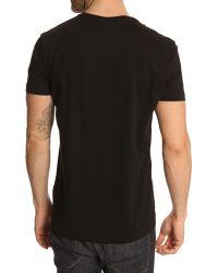 Lacoste Black Jersey T-Shirt - Lyst