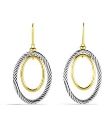 David Yurman Mobile Oval Earrings with Gold - Lyst