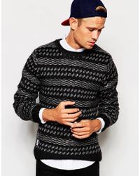 Native Youth - Textured Knitted Pattern Jumper - Lyst