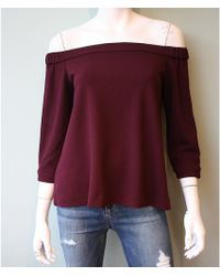 Tibi | Structured Crepe Off-shoulder Top | Lyst