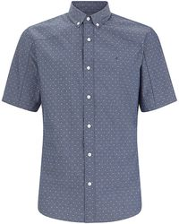 Calvin Klein Printed Chambray Short Sleeve Shirt - Lyst