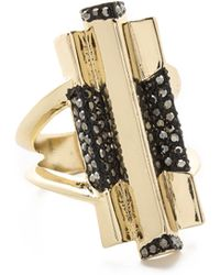 House of Harlow 1960 - Defined Deco Cocktail Ring - Lyst