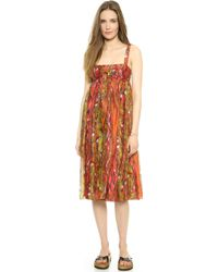M Missoni Print Knee Length Dress - Cognac - Lyst