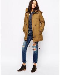 Sessun - Deserter Coat In Honey Brown - Lyst
