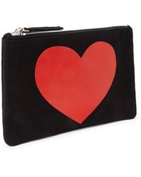 Forever 21 Heart Graphic Pouch - Lyst