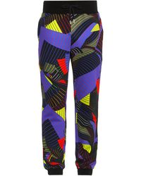 Christopher Kane - Striped Paper-print Track Pants - Lyst