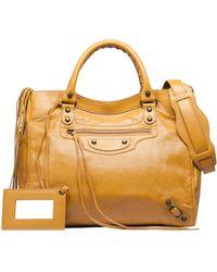 Balenciaga Yellow Classic Velo - Lyst