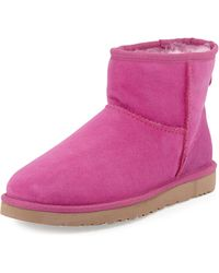 Ugg Mini Classic Shearling Boot - Lyst