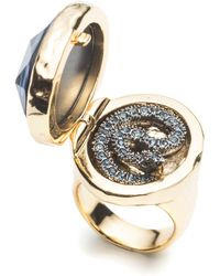 Alexis Bittar Coiled Serpent Poison Cocktail Ring gold - Lyst