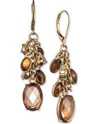 Jones New York - Gold-Tone Light Topaz Bead Cluster Drop Earrings - Lyst
