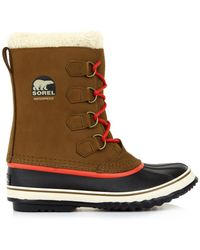 Sorel Pac Suede and Rubber Boots - Lyst