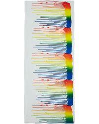 Simeon Farrar   Multicolour Wet Paint Drop Scarf   Lyst