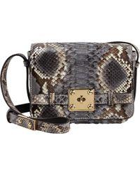 Zagliani Python Giulietta Bag animal - Lyst