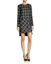 French Connection Windowpane Patterned Dress - Lyst