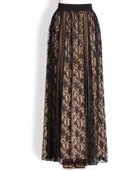 ABS By Allen Schwartz - Lace-panel Skirt - Lyst
