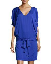 Diane Von Furstenberg Edna Woven Tie-waist Dress - Lyst
