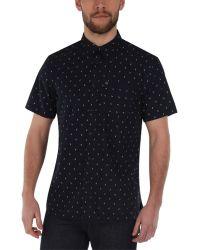 Bench - Rapson B Pattern Short Sleeve Shirt - Lyst