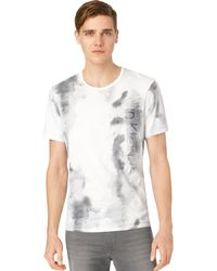 Calvin Klein Jeans Stained Logo T-shirt - Lyst