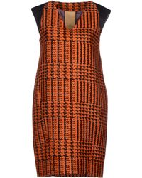Alice San Diego Short Dress orange - Lyst