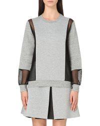 5cm - Mesh-panel Neoprene Sweatshirt - Lyst