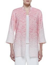 Caroline Rose Long Textured Ombre Jacket - Lyst