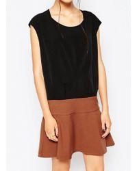 See U Soon - Dress With Contrast Flippy Skirt - Lyst
