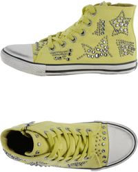 Ash Yellow Lowtops Trainers - Lyst